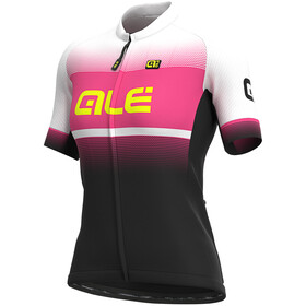 Alé Cycling Solid Blend Maillot Manga Corta Mujer, black/fluo pink